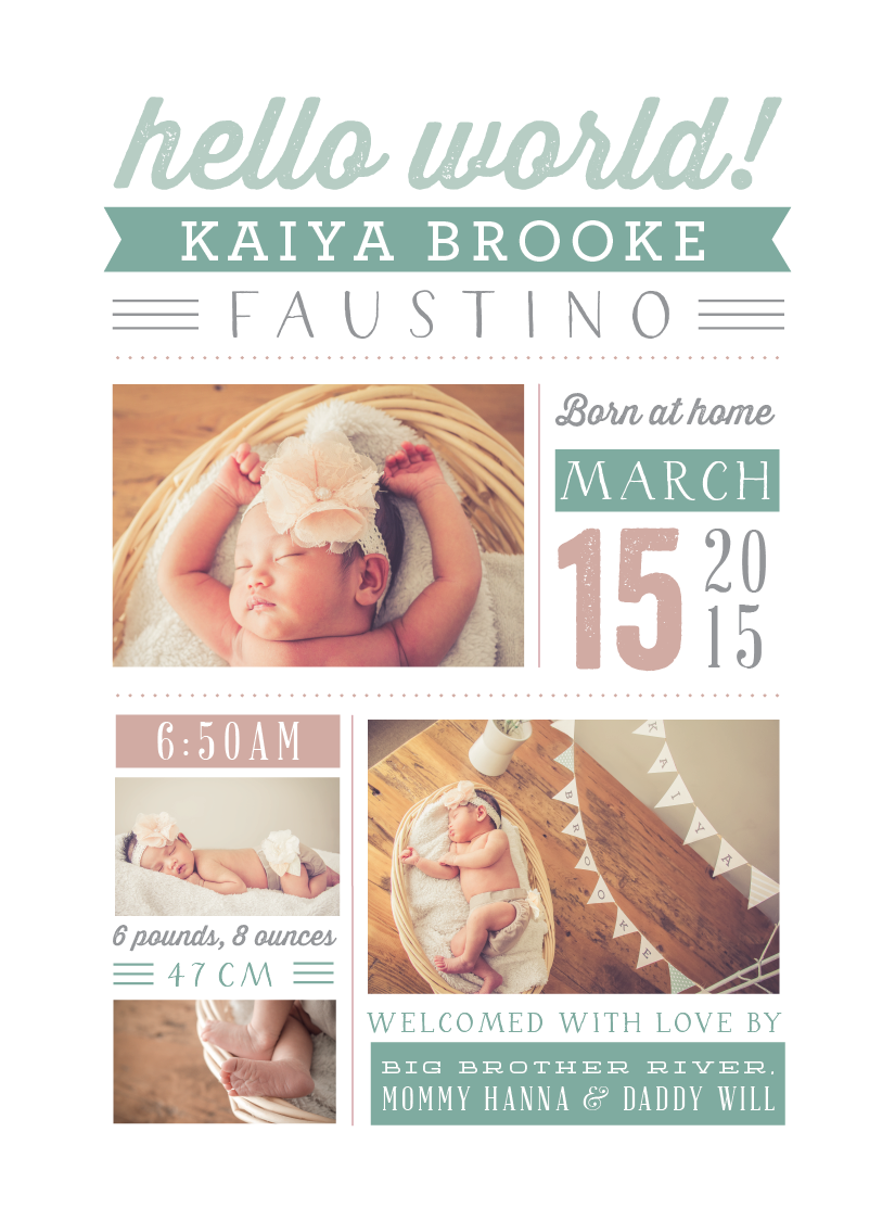 Kaiyas Birth Announcement