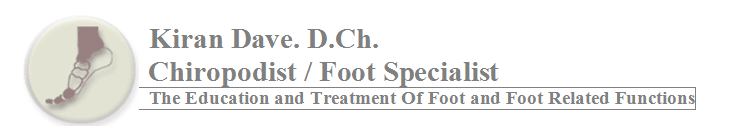 kiran dave chiropodist foot specialist education treatment foot-related functions