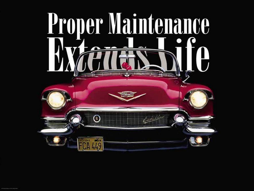 Proper Maintenance Extends Life Chiropractic poster