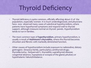 thyroid deficiency slide