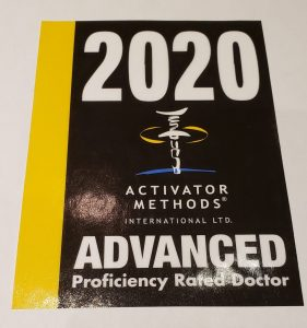 Activator Chiropractic Technique Advanced Proficiency 2020