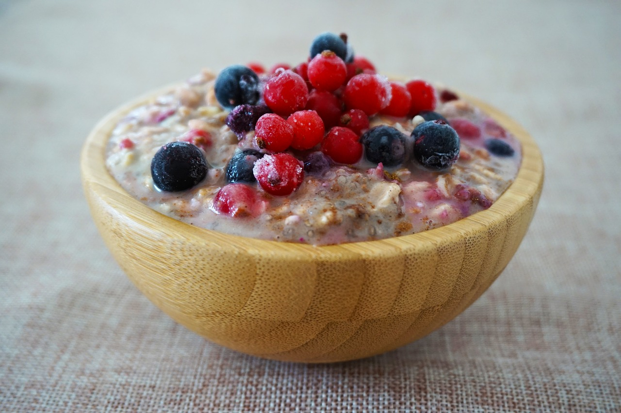 warm breakfast porridge with fruit